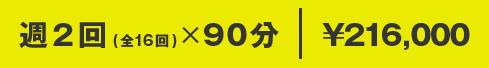 週2回(全16回)×90分 ¥216,000