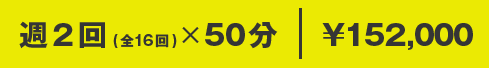 週2回(全16回)×50分 ¥152,000